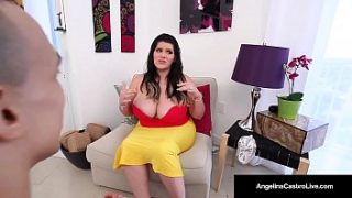 Hd bbw porn of Busty Angelina Castro LOVES to suck dick