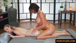 Two Lesbian girl xxx sex video after oil massage